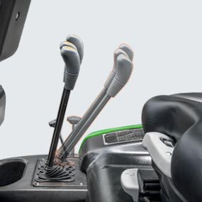 Levers  Shift forward for easy cover access
