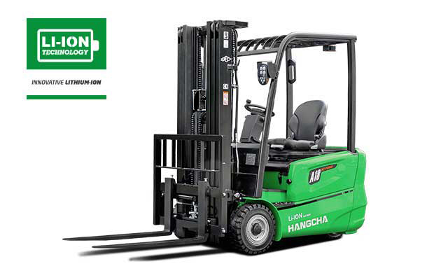 3-Wheel Electric Lithium-ion Forklift  3,200-4,000lbs