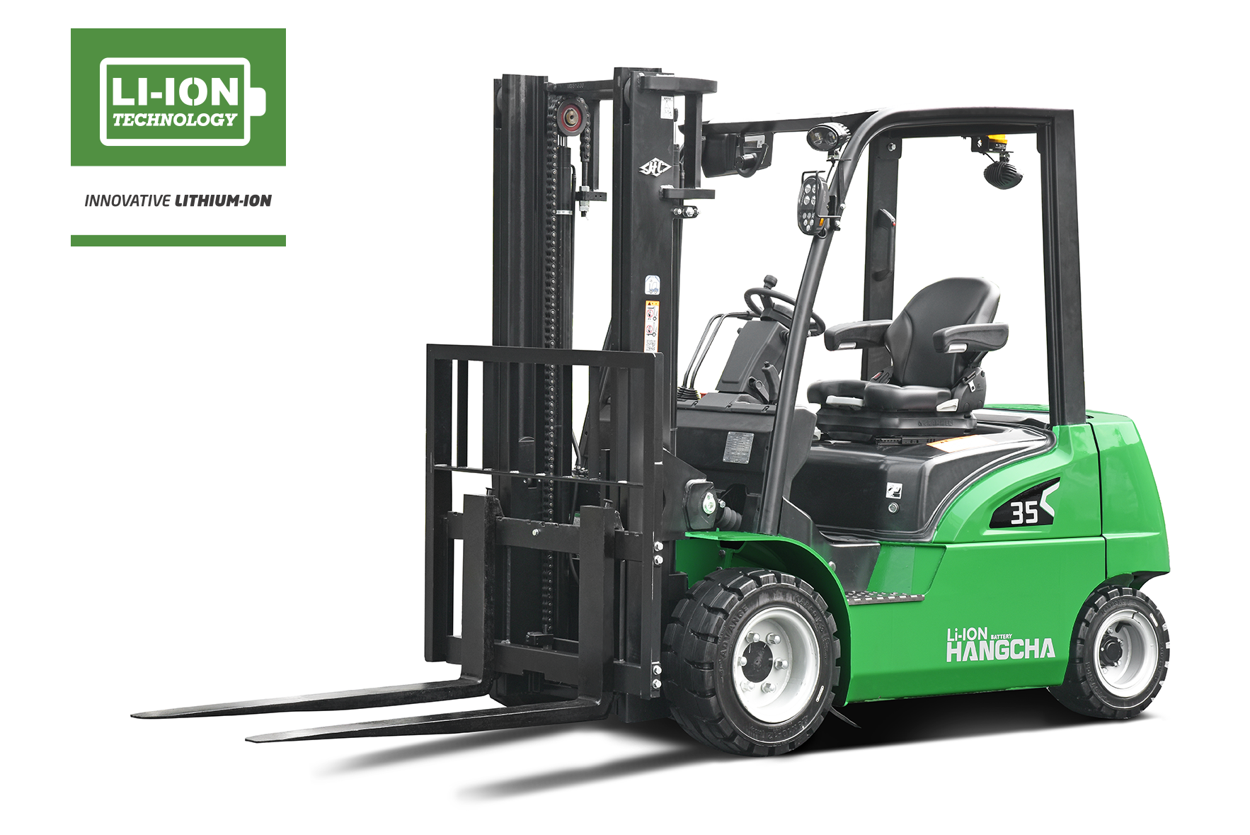 Electric Lithium-ion Pneumatic Tire Forklift 4,000-7,000lbs