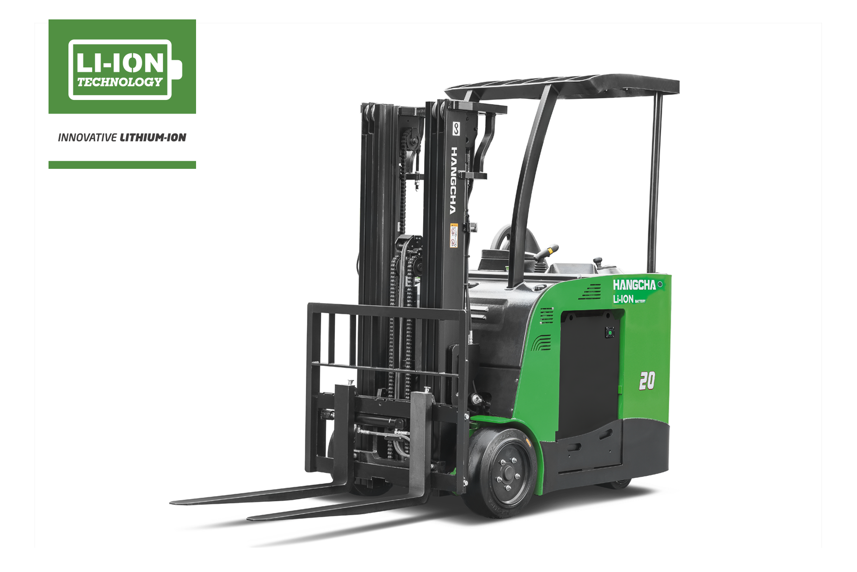 3 Wheel Electric Lithium-ion Stand-Up Counterbalanced Forklift 3,000-5,000lbs