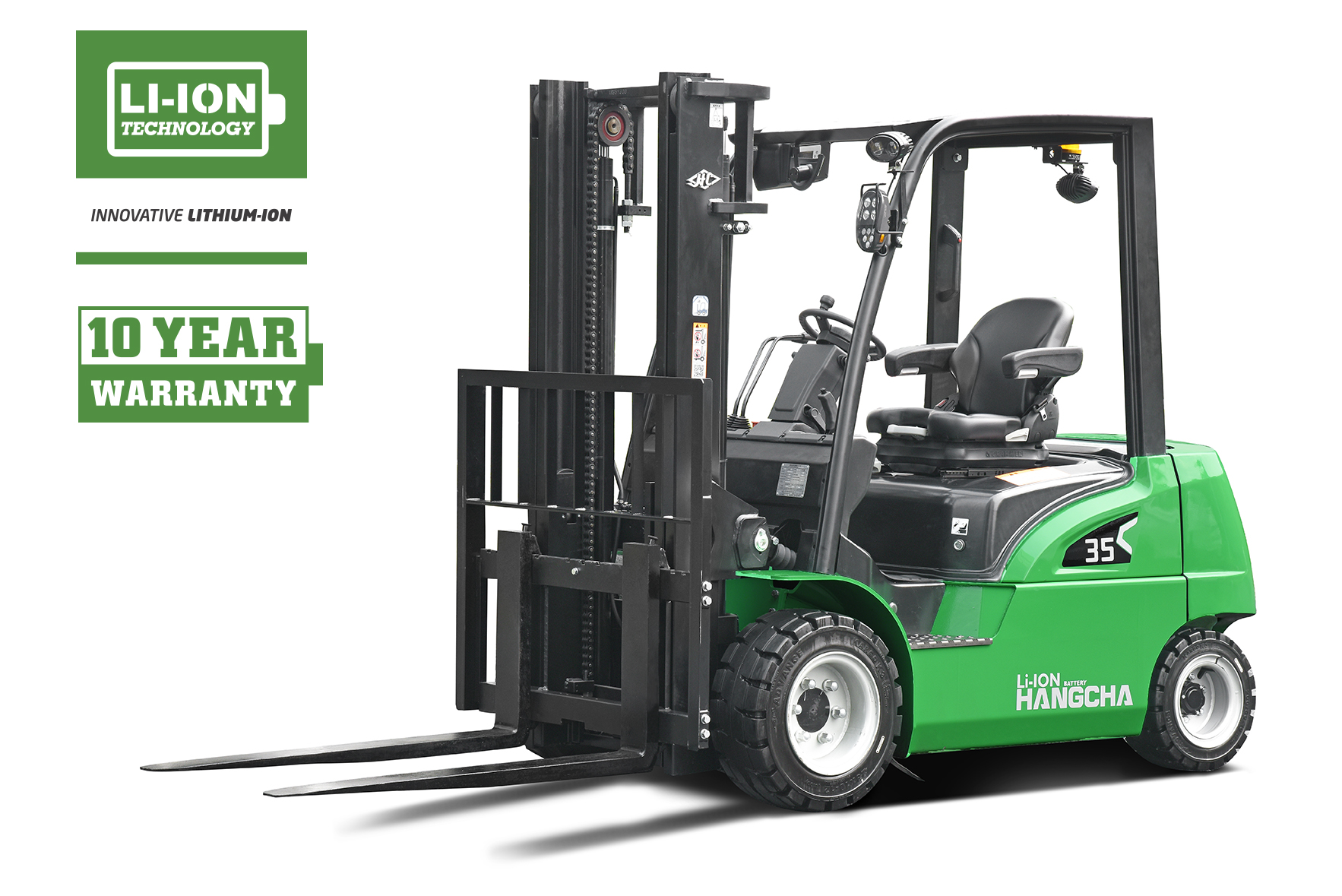 Electric Lithium-ion Pneumatic Forklift 4,000-7,000lbs