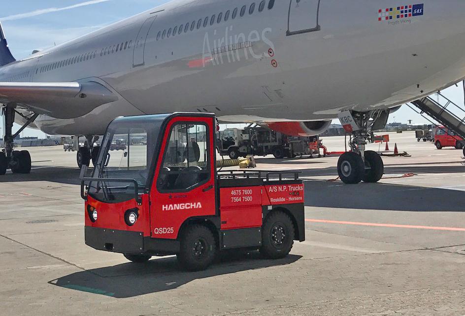 HC Towing Tractor In Conpehagen Airport