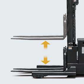 Standard configuration of lifting and lowering stepless speed regulation realizes more accurate operation of the fork