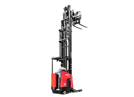 Reach Truck Back Right 3 Quarter Lifted