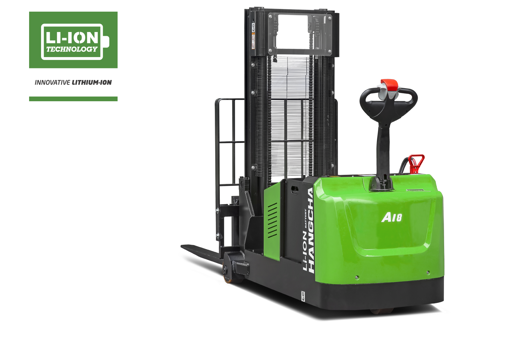 Electric Lithium-ion Industrial Walkie Counterbalanced Stacker 2,000-4,000lb