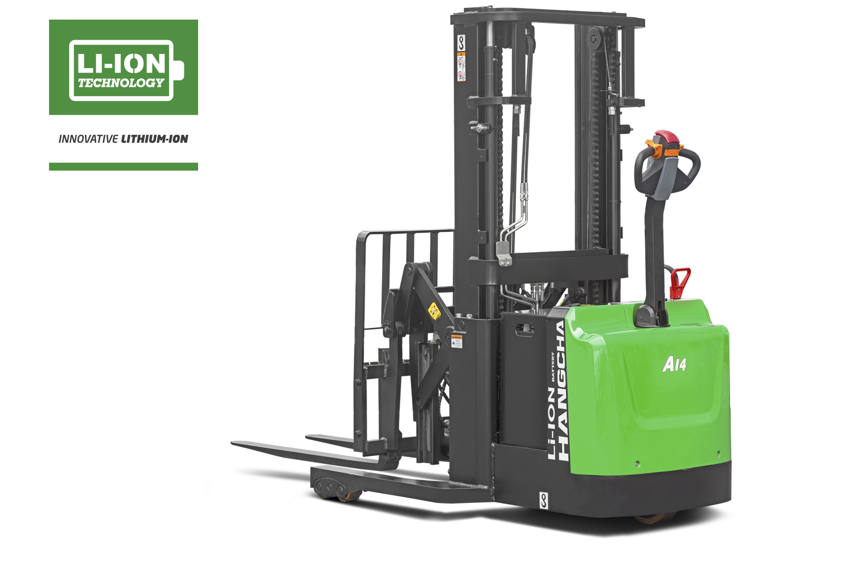 Electric Lithium-ion Industrial Walkie Reach Stacker 3,000lbs