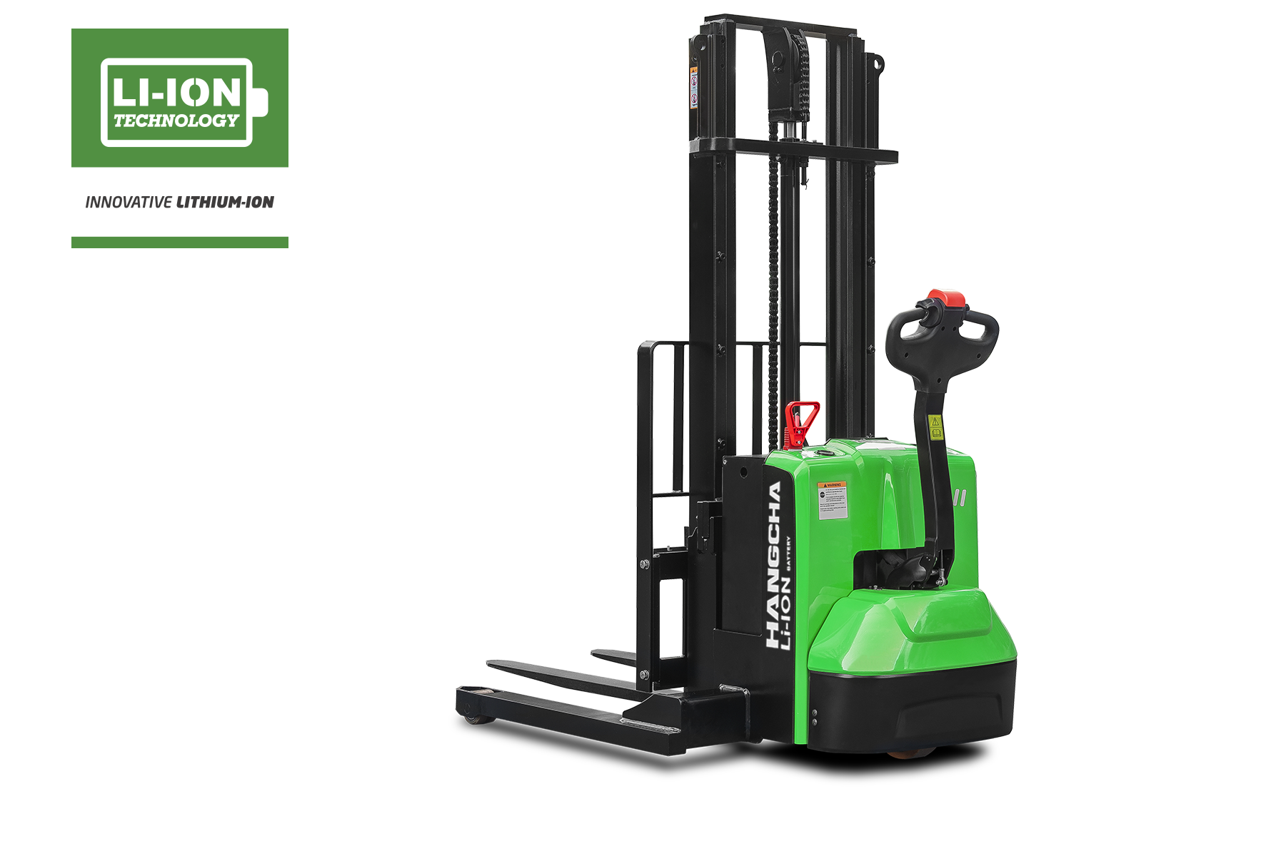 Electric Lithium-ion Walkie Straddle Stacker 2,500lbs