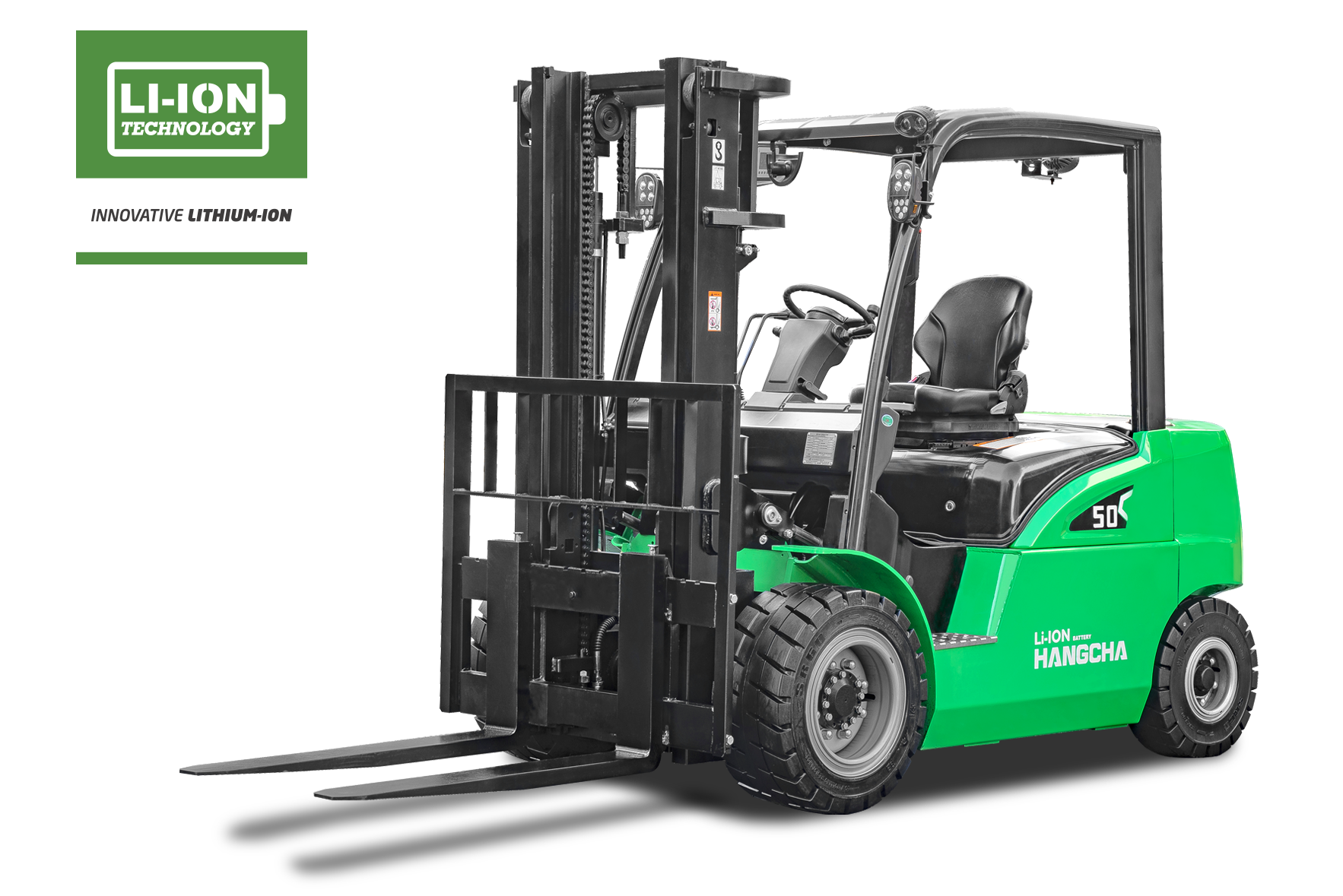 Electric Lithium-ion Pneumatic Tire Forklift 8,000-11,000lbs
