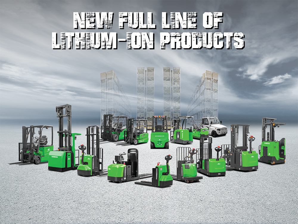 Hangcha Forklift America Introduces A New Full Line Of Lithium-ion Powered Material Handling Equipment